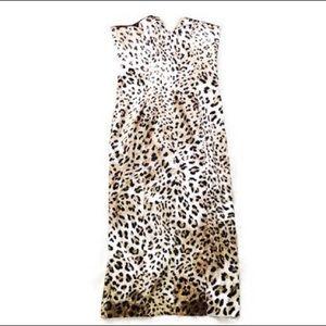 ♡ DINA BAR-EL SlLK DESIGNER LEOPARD PRINT DRESS ♡